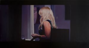 Window Scene (2013) 1105mm x 2000mm Oil on Canvas
