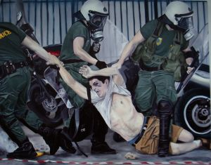 The flagellation (2011) 750 x 940mm  Oil on Canvas